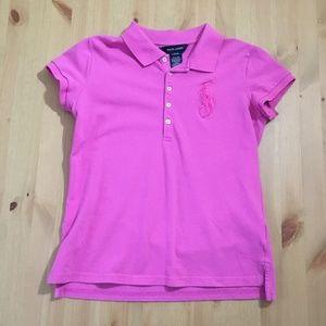 Ralph Lauren Hot Pink Polo Short Sleeve Top